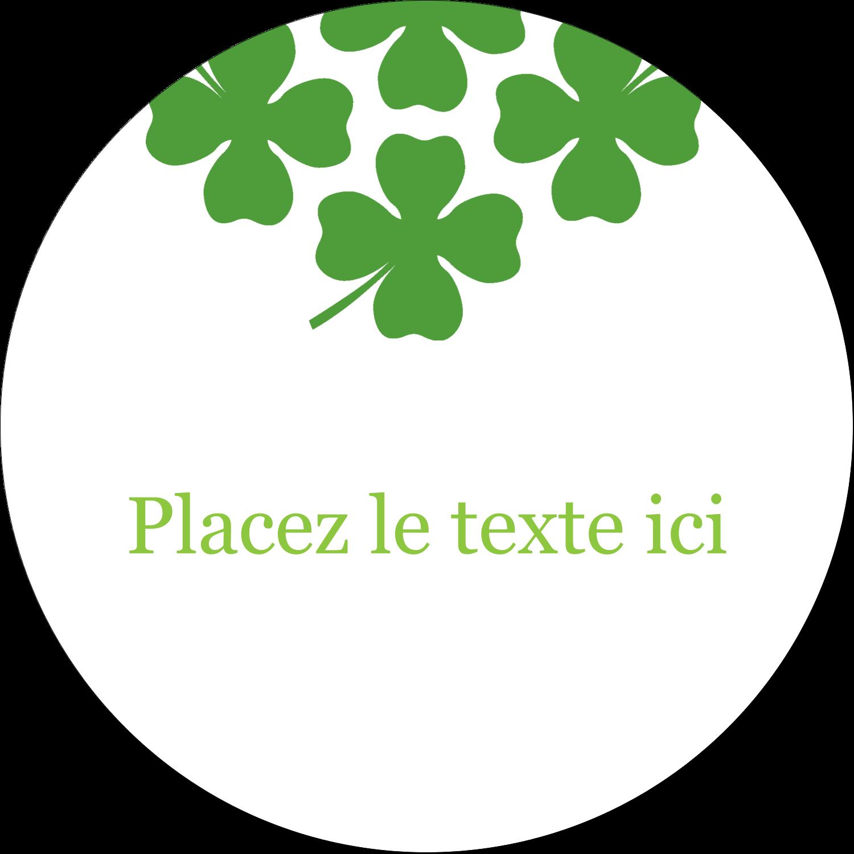 """3"""" x 2¼"""" Étiquettes arrondies - Saint-Patrick"""