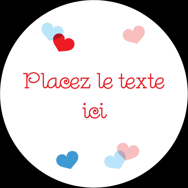 """3"""" x 2¼"""" Étiquettes arrondies - Saint-Valentin"""