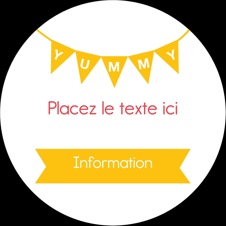"""3-7/16"""" x 15/16"""" Étiquettes de classement - Crème glacée sucrée"""