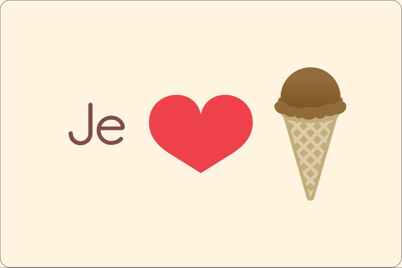 """3"""" x 3¾"""" Étiquettes rectangulaires - Crème glacée sucrée"""