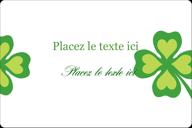 """3"""" x 3¾"""" Étiquettes rectangulaires - Saint-Patrick"""