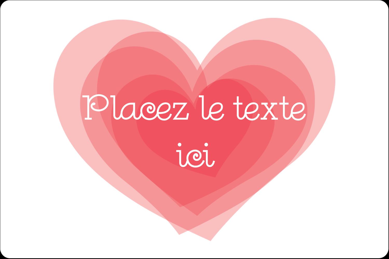 """3"""" x 3¾"""" Étiquettes rectangulaires - Saint-Valentin"""