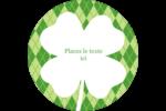 Saint-Patrick Étiquettes arrondies - gabarit prédéfini. <br/>Utilisez notre logiciel Avery Design & Print Online pour personnaliser facilement la conception.