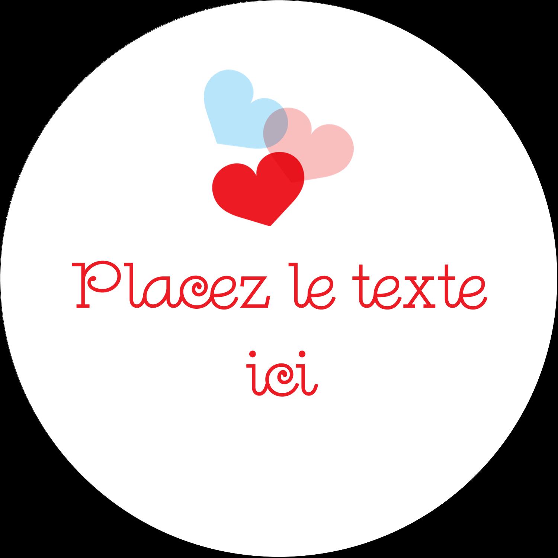"""4¾"""" x 3½"""" Étiquettes arrondies - Saint-Valentin"""