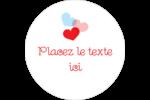 Saint-Valentin Étiquettes arrondies - gabarit prédéfini. <br/>Utilisez notre logiciel Avery Design & Print Online pour personnaliser facilement la conception.