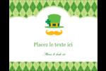 Saint-Patrick Étiquettes rondes gaufrées - gabarit prédéfini. <br/>Utilisez notre logiciel Avery Design & Print Online pour personnaliser facilement la conception.