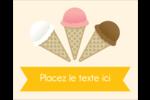 Crème glacée sucrée Étiquettes rondes gaufrées - gabarit prédéfini. <br/>Utilisez notre logiciel Avery Design & Print Online pour personnaliser facilement la conception.