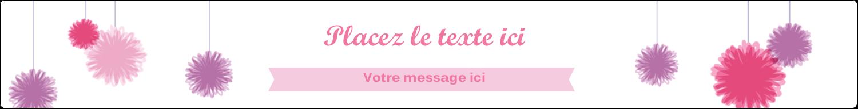 """1½"""" x 2½"""" Étiquettes ovales - Pompons de fête"""