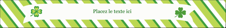 """1½"""" x 2½"""" Étiquettes ovales - Saint-Patrick"""