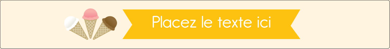 """1½"""" x 2½"""" Étiquettes ovales - Crème glacée sucrée"""