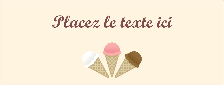 """1-7/16"""" x 3¾"""" Affichette - Crème glacée sucrée"""