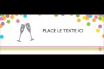 Nouvel An Affichette - gabarit prédéfini. <br/>Utilisez notre logiciel Avery Design & Print Online pour personnaliser facilement la conception.