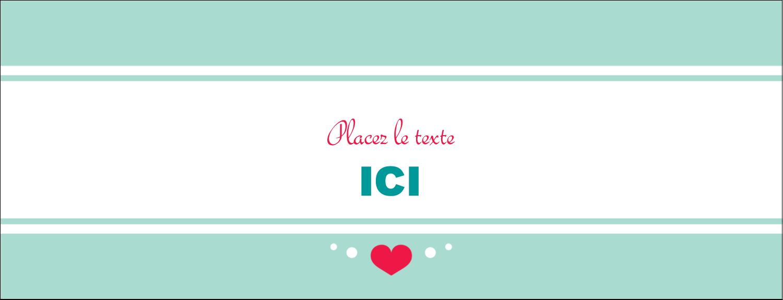 """1-7/16"""" x 3¾"""" Affichette - Cœur de princesse"""