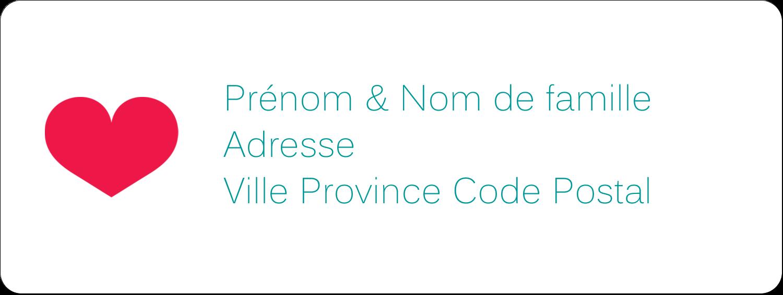 """½"""" x 1¾"""" Étiquettes D'Adresse - Cœur de princesse"""