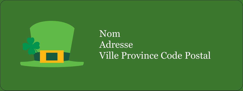 """½"""" x 1¾"""" Étiquettes D'Adresse - Saint-Patrick"""