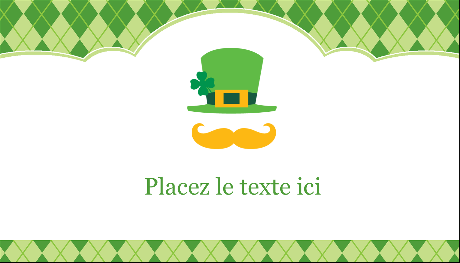 "3½"" x 2"" Carte d'affaire - Saint-Patrick"