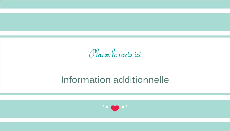 """3½"""" x 2"""" Carte d'affaire - Cœur de princesse"""