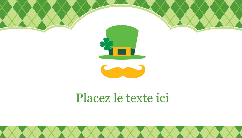 """3½"""" x 2"""" Carte d'affaire - Saint-Patrick"""