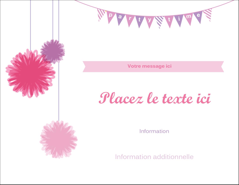 """4¼"""" X 5½"""" Carte Postale - Pompons de fête"""