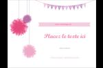 Pompons de fête Carte Postale - gabarit prédéfini. <br/>Utilisez notre logiciel Avery Design & Print Online pour personnaliser facilement la conception.