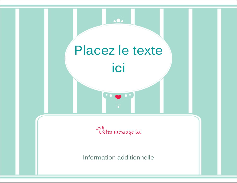 """4¼"""" X 5½"""" Carte Postale - Cœur de princesse"""