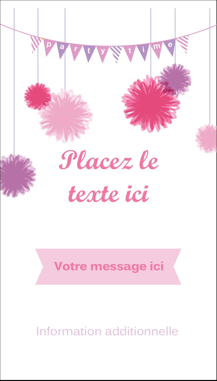 """3½"""" x 2"""" Carte d'affaire - Pompons de fête"""