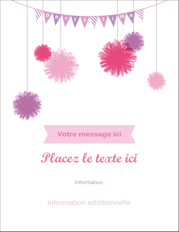 """5½"""" x 4¼"""" Carte Postale - Pompons de fête"""