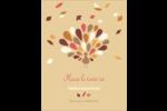 Plumes d'Action de grâces Carte Postale - gabarit prédéfini. <br/>Utilisez notre logiciel Avery Design & Print Online pour personnaliser facilement la conception.