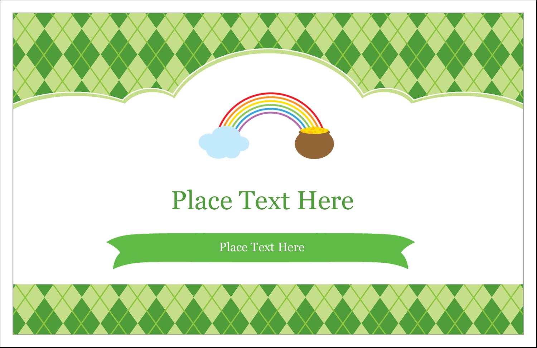 "5½"" x 8½"" Greeting Card - St. Patrick"