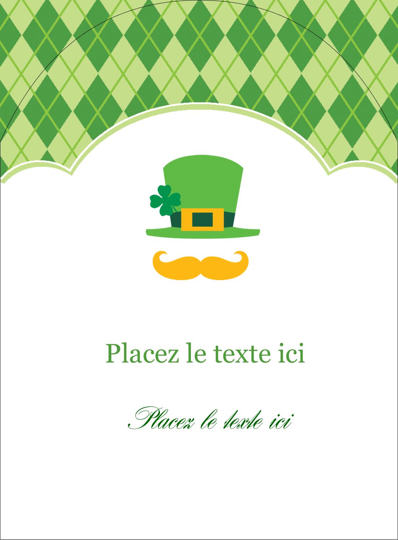 """4¾"""" x 3½"""" Étiquettes rectangulaires - Saint-Patrick"""