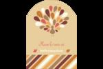 Plumes d'Action de grâces Étiquettes rectangulaires - gabarit prédéfini. <br/>Utilisez notre logiciel Avery Design & Print Online pour personnaliser facilement la conception.