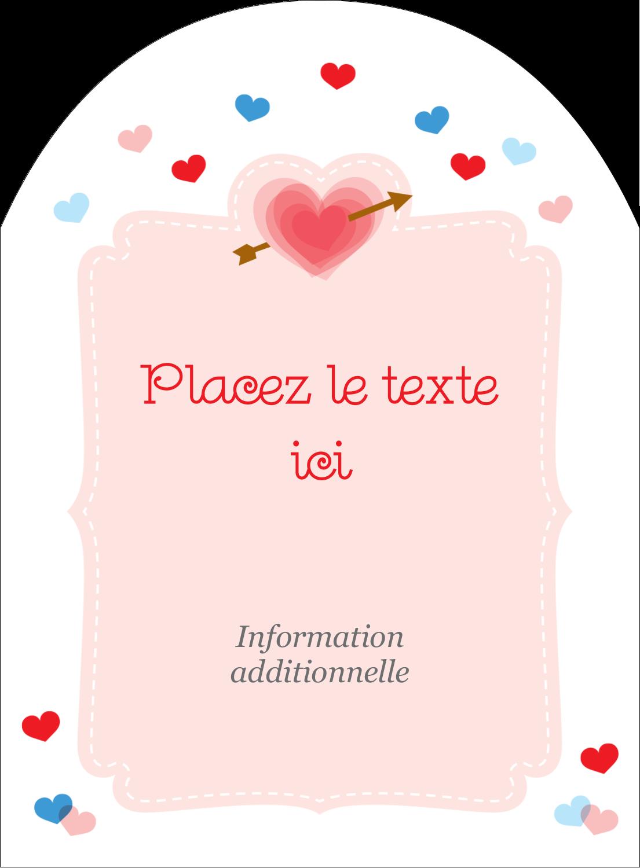 """4¾"""" x 3½"""" Étiquettes rectangulaires - Saint-Valentin"""