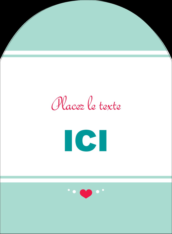 """4¾"""" x 3½"""" Étiquettes rectangulaires - Cœur de princesse"""