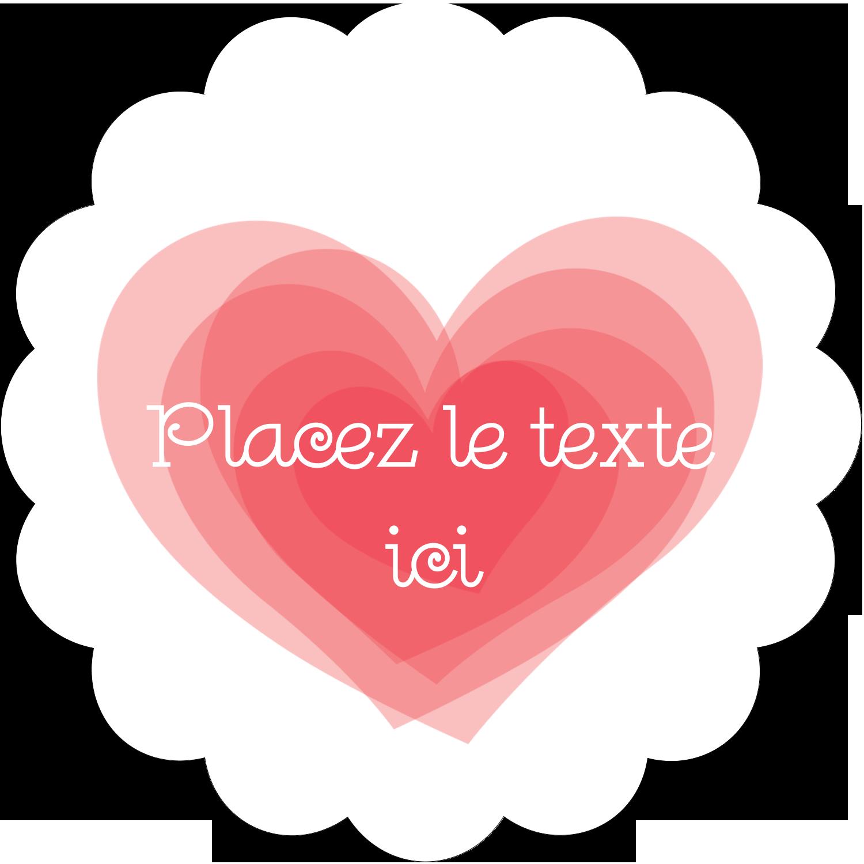 """2½"""" Diameter Étiquettes rondes - Saint-Valentin"""