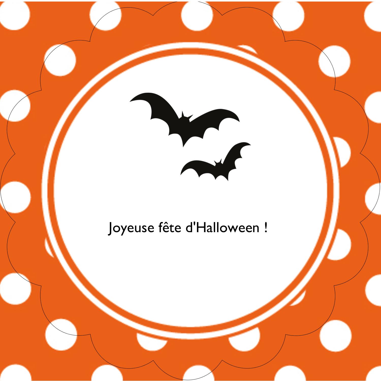"""2½"""" Diameter Étiquettes rondes - Halloween d'enfant"""
