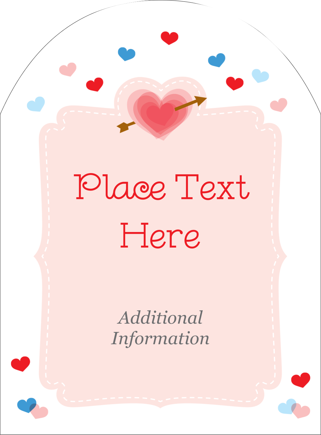 "4¾"" x 3½"" Arched Label - Valentine's Day"