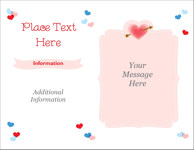 "5½"" x 4¼"" Note Card - Valentine's Day"