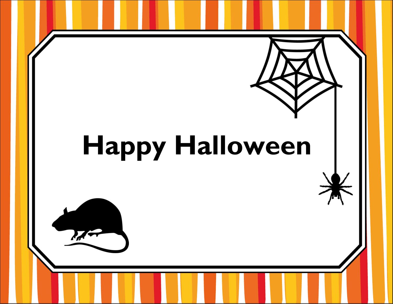 "5½"" x 4¼"" Note Card - Kiddie Halloween"