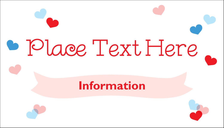 "2"" x 3½"" Business Card - Valentine's Day"