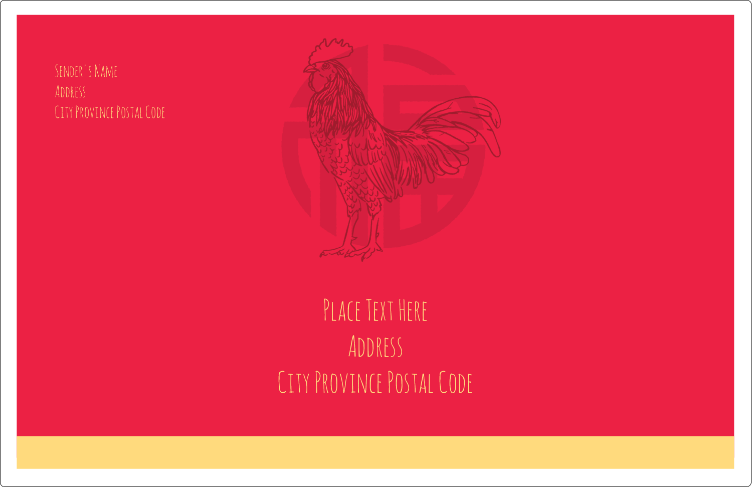 """5½"""" x 8½"""" Shipping Label - Year of the Rooster"""