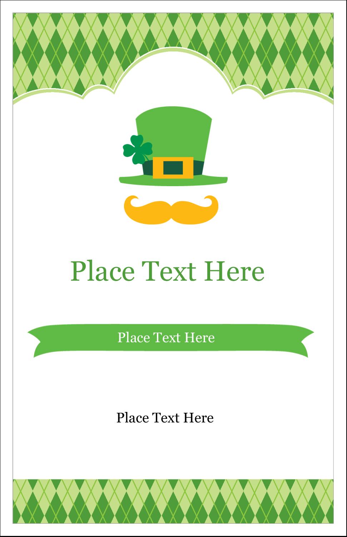 "5"" x 8½"" Half Fold Card - St. Patrick"