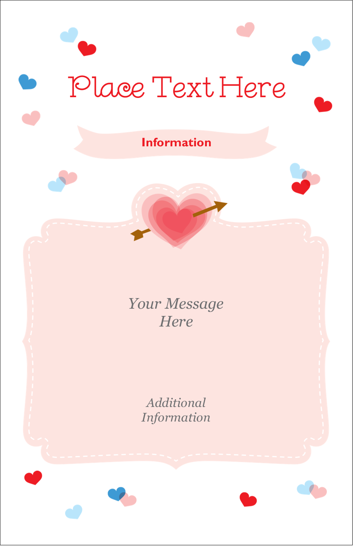 "5"" x 8½"" Half Fold Card - Valentine's Day"