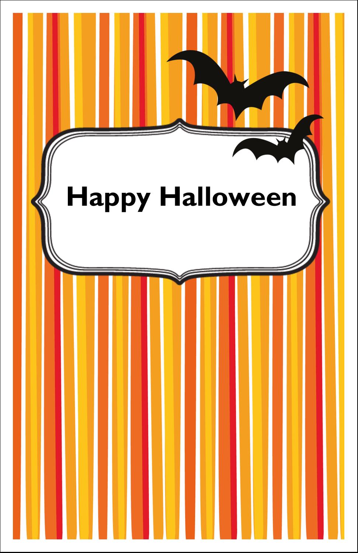 "5"" x 8½"" Half Fold Card - Kiddie Halloween"