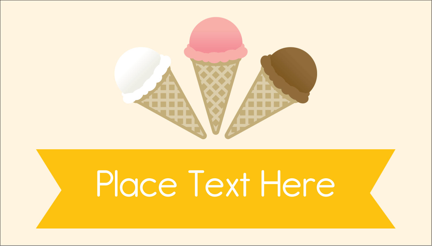 "2"" x 3½"" Business Card - Sweet Ice Cream"