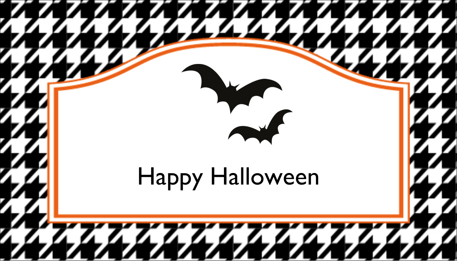 "2"" x 3½"" Business Card - Kiddie Halloween"