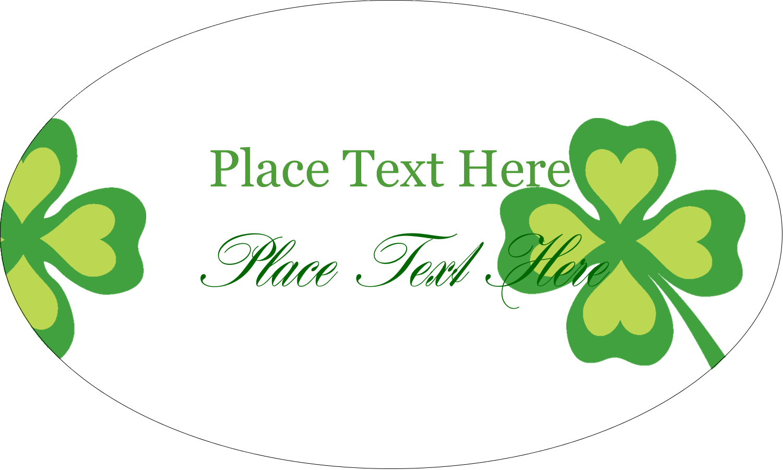 "1½"" x 2½"" Oval Glossy Label - St. Patrick"
