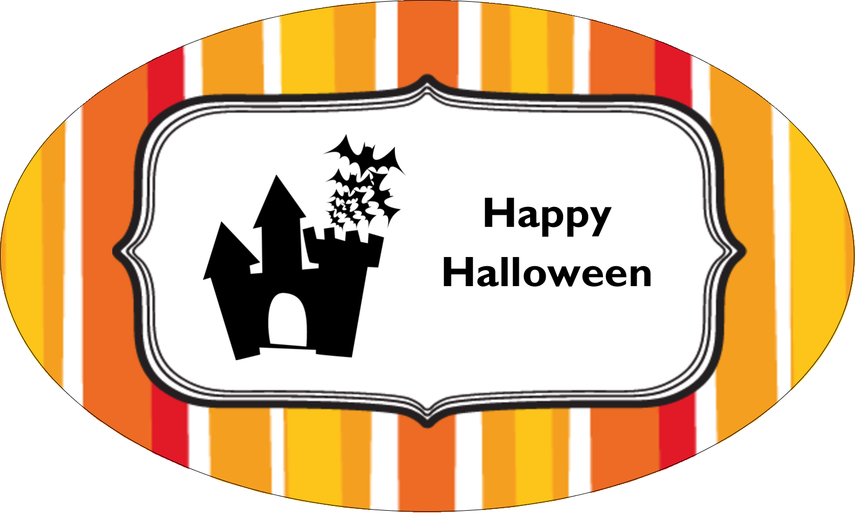 "1½"" x 2½"" Oval Glossy Label - Kiddie Halloween"