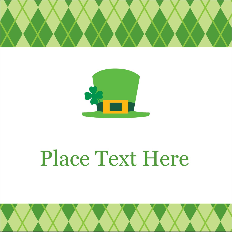 "1½"" x 1½"" Square Label - St. Patrick"