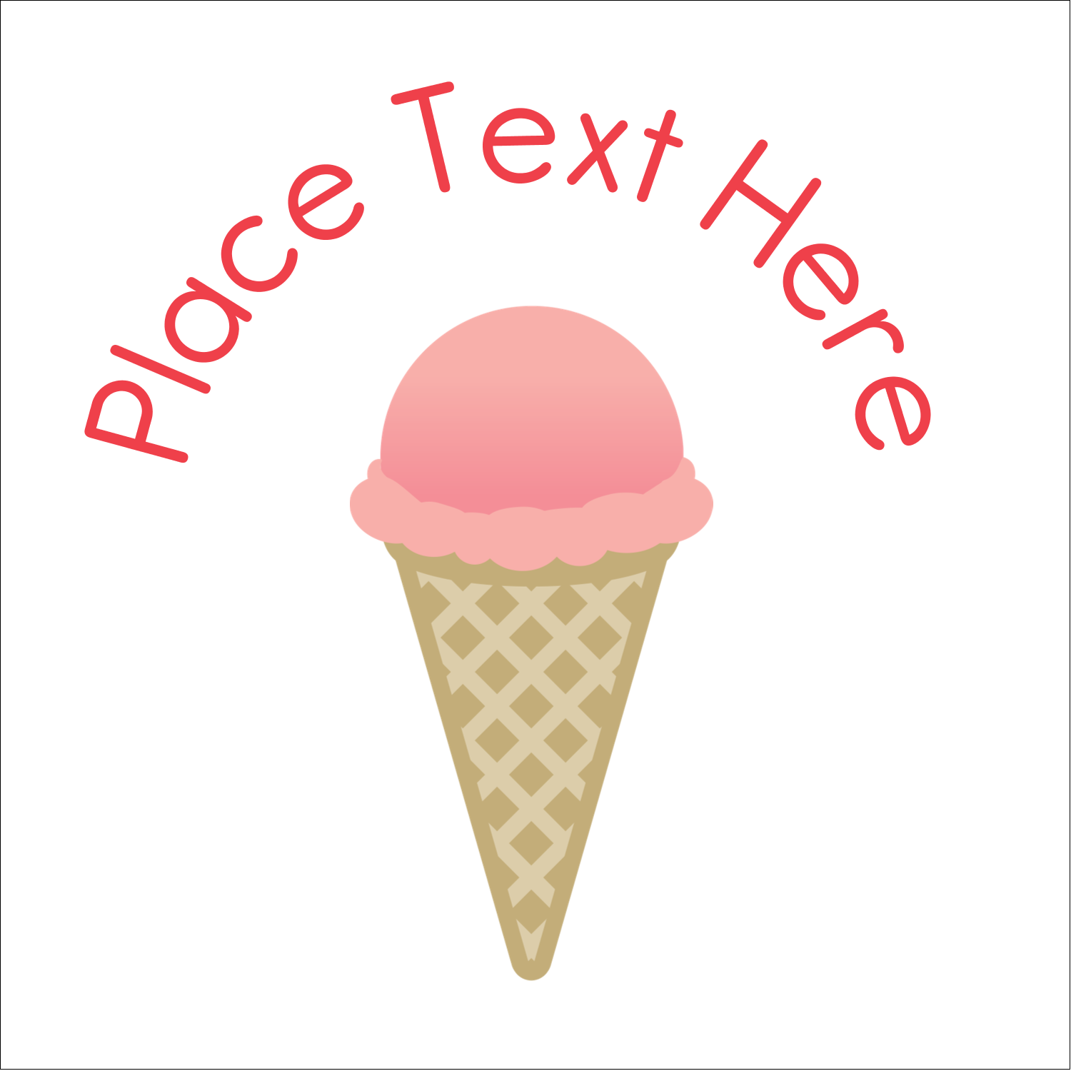 "1½"" x 1½"" Square Label - Sweet Ice Cream"