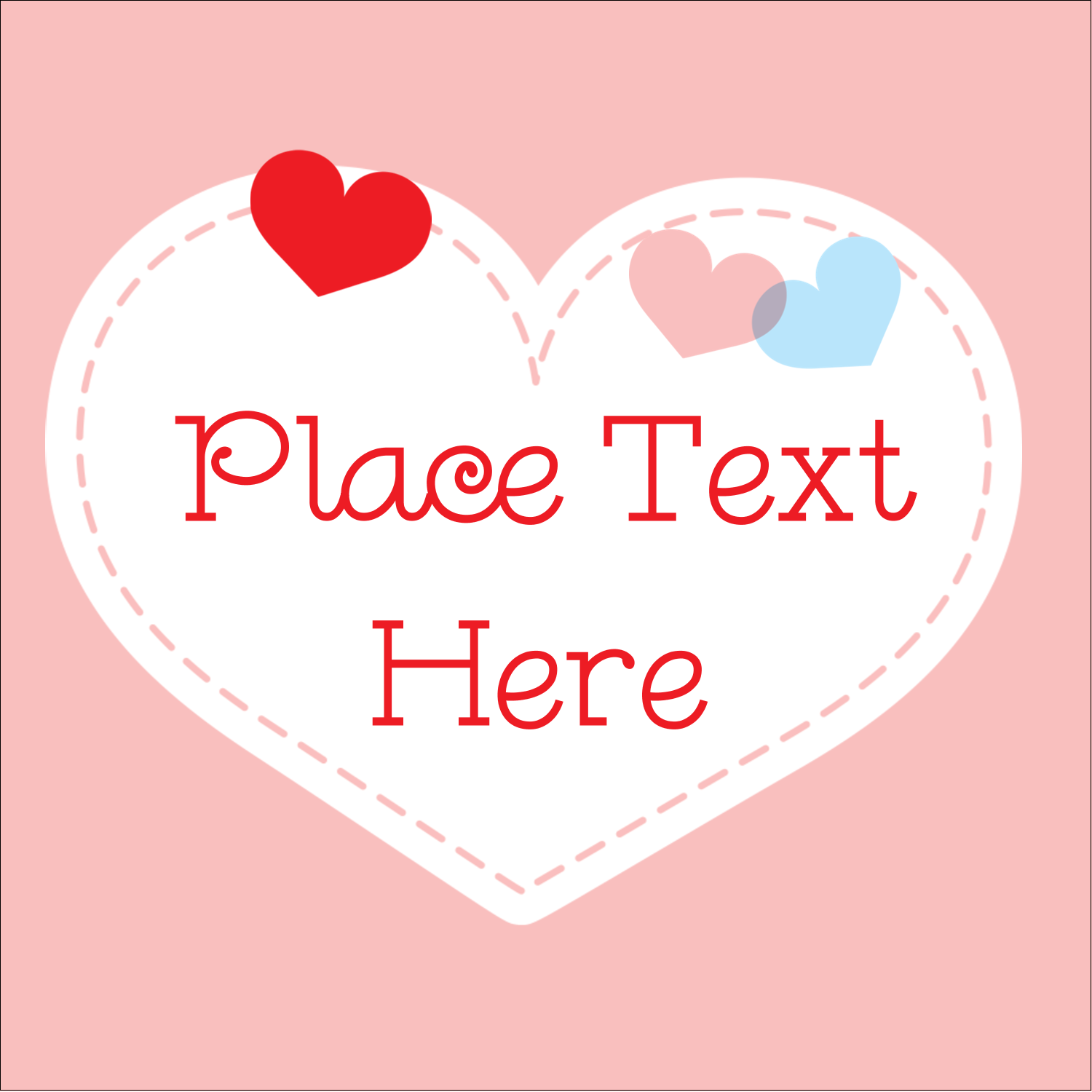 "1½"" x 1½"" Square Label - Valentine's Day"